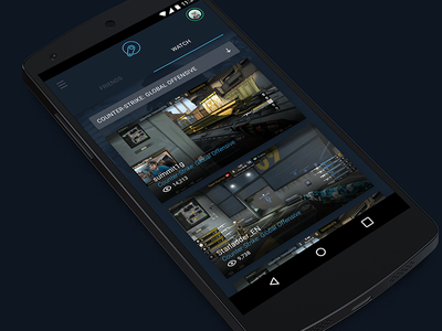 Game Messenger online friends watch chat gaming steam android app android app user interface ui