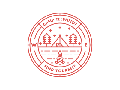 Camp Teewinot Badge outdoors camping camp patch badge