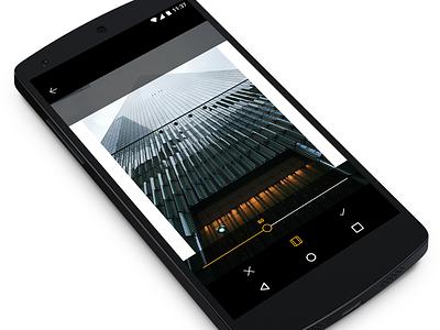 Photo + Frame minimal app design user interface ui photo editing icons slider app android frame photo