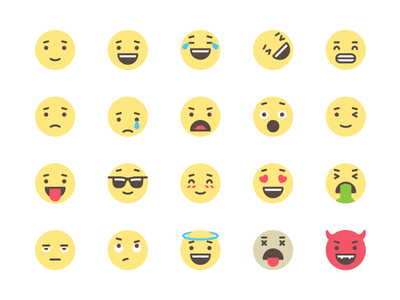 Emo-hi cute illustrator faces emoji