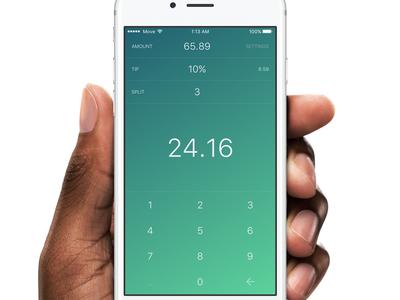 Tip Tap for iOS gesture tip calculator tip split app store meal gradient food calculator ios app