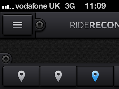 RideRecon UI (with Button PSD) ios ui app bolt ride soft gradient