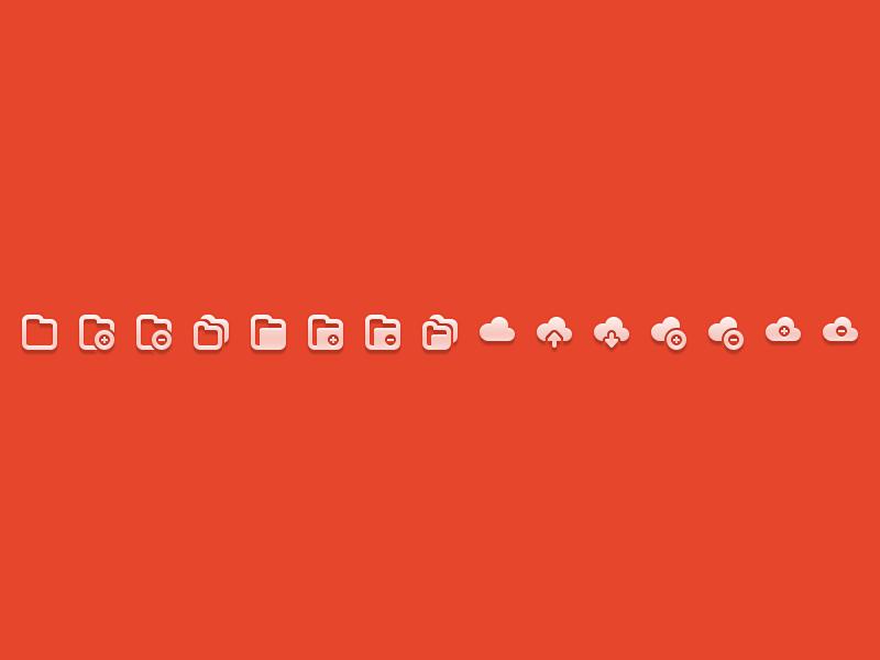 Icon Sampler icons icon folder cloud add remove duplicate freebie sample