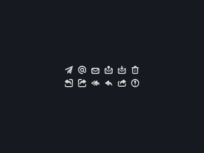 Batch - Email Pack batch icons icon free mail email @ aeroplane incoming outgoing bin reply options spam
