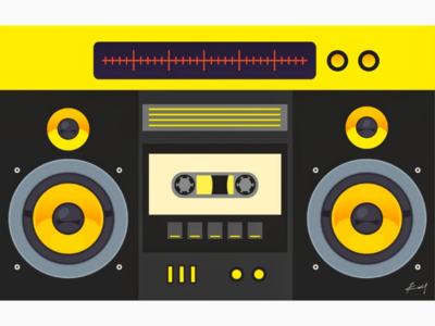 Radio inspired laptop skin idea