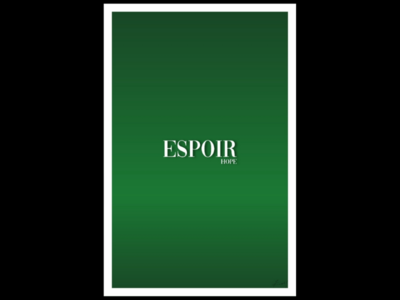 Espoir(hope) saying gradient matte finished poster