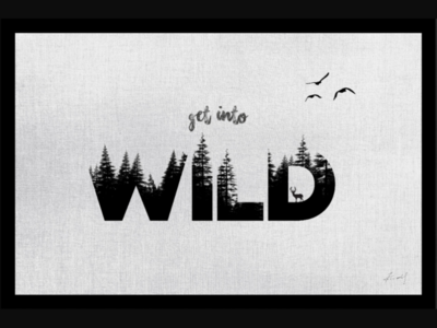 Get into wild wall poster on corel draw