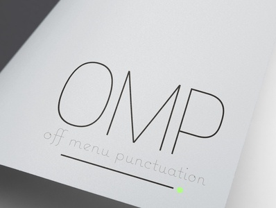 Off Menu Punctuation - Logo Design