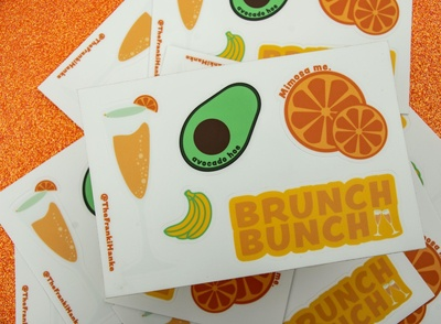 Brunch Bunch Sticker Sheet - Product Design