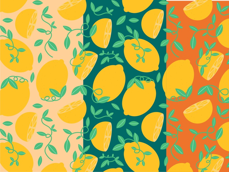 Botanical Lemon - Surface Pattern vector art vector pattern seamless pattern surface pattern pattern