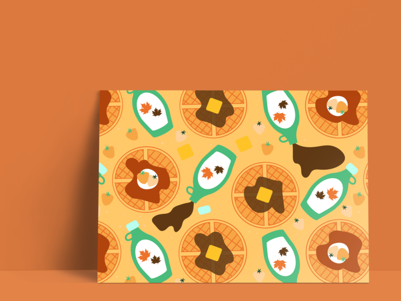 Waffle Postcard - Product Design Concept vector seamless pattern vector pattern design product pattern design pattern product design