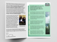 Cascade Forest Conservancy - Holiday Brochure Design
