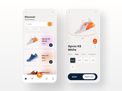 Ecommerce Mobile App ui  ux online product ecommerce ui kit nike shoes online shoe stores onboarding user interface app ecommerce ecommerce app online store app design mobile ui mobile app ui minimal uidesign