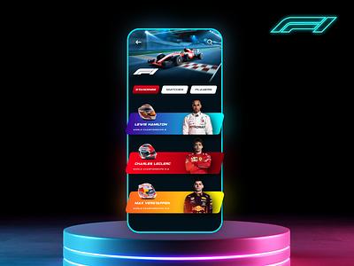 F1 Formula One Game Design Concept. Grand Prix Monaco game art game designer racetrack racer racecar formula e formula 1 formula1 need for speed games game app game game ui racing game racing car game design design mockup dark mode app design