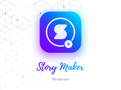 App Logo Design & App Icons for Story Maker purple blue theme icon changer vibrant vivid color daily 100 challenge dailyuichallenge dailyui clean design minimalist app app design vector ios app design icon illustration ui branding logo