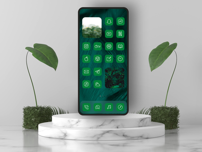 Nature Theme for iPhone ios theme color widget widget icon packs icon changer icon themer icon pack launcher ios screenshot design dailyui ux mockup ui dark mode ios app design illustration app design