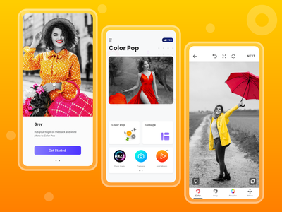 Color Pop App Redesign for Android app ui eye catching vibrant vivid colorful clean ui daily ui daily 100 challenge dailyui ux games mockup ui ios app design app design vector design branding illustration