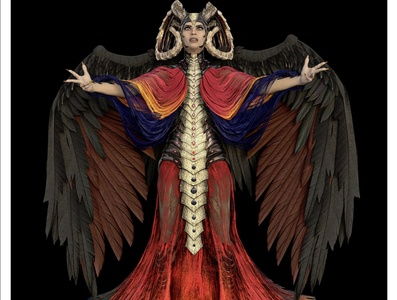 The Evil Priestess 3D Rendering 3d rendering cg realistic 3d 3d render renders 3d artist 3d art renderhub 3d4u2c dark priestess priestess villian dark evil