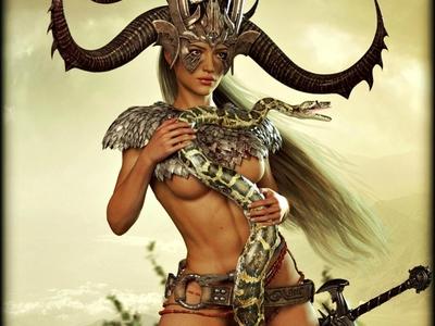 Girl with snake 3D Rendering 3d rendering cg realistic 3d 3d render renders 3d artist 3d art renderhub ikke46