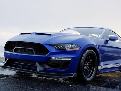 Ford Mustang Super Snake 2019 3D Rendering cg realistic 3d 3d render renders 3d artist 3d art renderhub bug-irl corona max 3d racing muscle sport vehicle car 2019 gt500 mustang ford