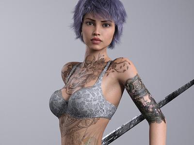 Warrior 3D Rendering 3d rendering cg realistic 3d 3d render renders 3d artist 3d art renderhub daz4ren warrior