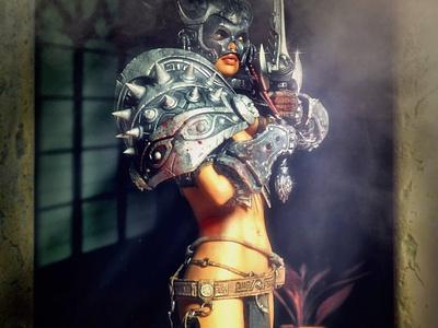 Last Defender 3D Rendering 3d rendering cg realistic 3d 3d render renders 3d artist 3d art renderhub lilmichdevil sexy female warrior