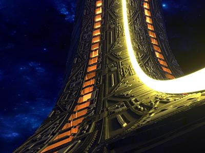 Gate to the Stars 3D Rendering 3d rendering cg realistic 3d 3d render renders 3d artist 3d art renderhub cadforge scifi spaceship stars interstellar portal space