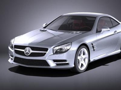 Mercedes SL 2015 (vray)