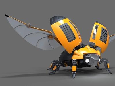 Beetle Ladybug Robot 3D Model