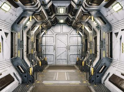 Sci Fi Corridor Marines 3D Model