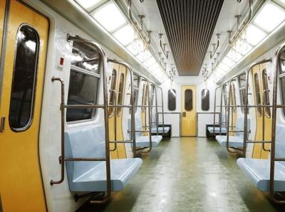 Subway Interior 3D Model