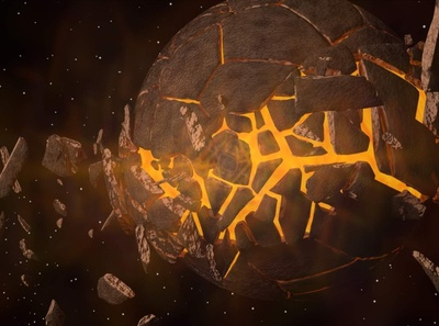 Planet Bursting 3D Model