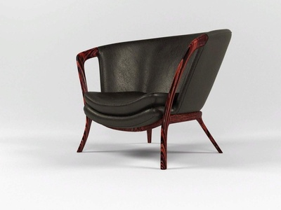 Casa Leather Armchair 3D Model