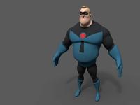 Mr Incredible 3D Model
