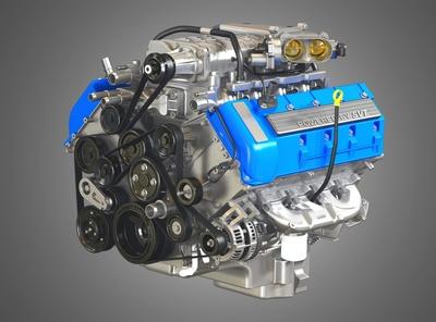 2013 SVT Mustang Shelby GT500 Engine 3D Model