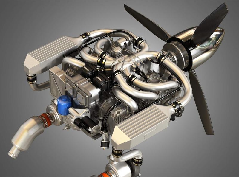 Continental IO 550 Engine 3D Model engines 3d model cg realistic 3d 3d render renders 3d artist 3d art renderhub markos3d 6cylinder aircraft io550 engine 550 io continental
