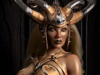Golden Skin 3D Rendering