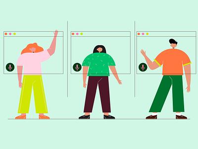 event background illustration woman character illustraion people vector flat illustration