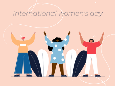 international women's day! 8march woman illustraion illustration character 2d flat illustration
