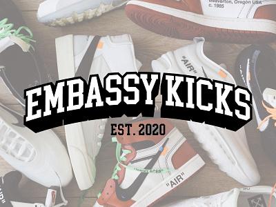 Embassy Kicks print design branding sneakers