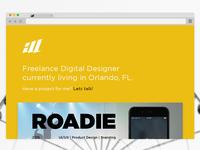 Personal Site: Ver.II index portfolio designer web redesign minimal ui website