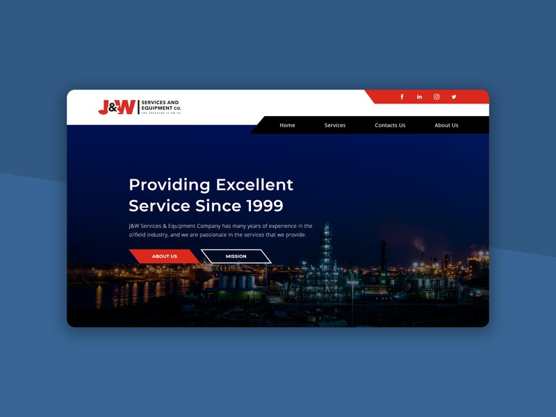 Oil Field Company Responsive Website