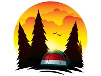 Tent Scene at Dawn