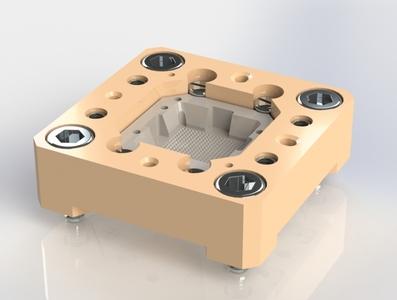 FCBGA Socket 3d model 3d printing solidworks design 3d modelling 3dmodel 3dmodeling pogo pin pogo
