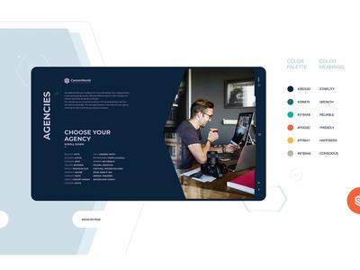 CommWorld web design