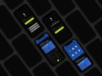Banking App UI (Dark Mode)
