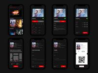 Movie Theater App (Dark Mode) | App de Cine (Modo Oscuro)