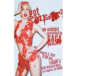 Gaga Meat Poster Design