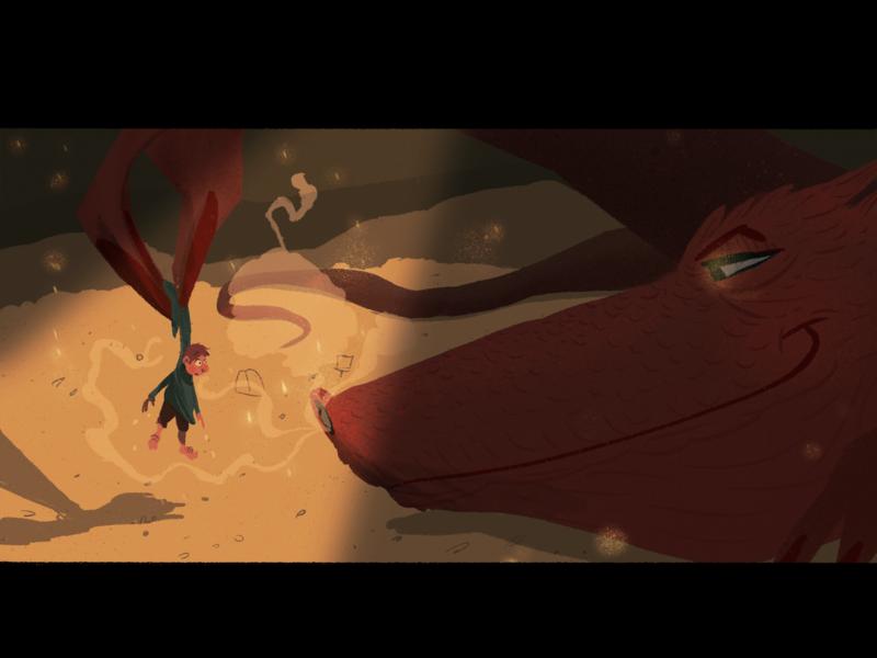 The Burglar procreate kids book dragon bilbo baggins the hobbit lord of the rings character design illustration