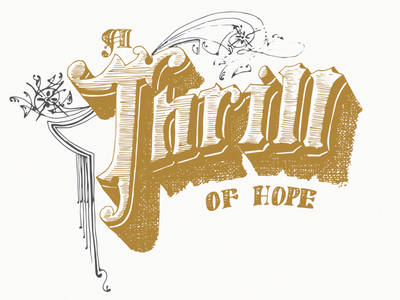 A Thrill of Hope christmas handdrawn handlettering